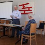 Ordf Arne Andersson inledde mötet